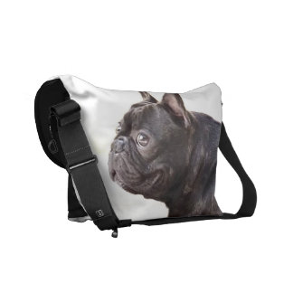 French Bulldog Rickshaw Messenger Bags