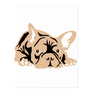 French Bulldog rose Postcard