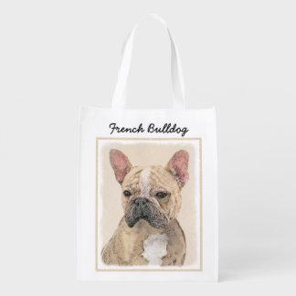 French Bulldog (Sable) Reusable Grocery Bag