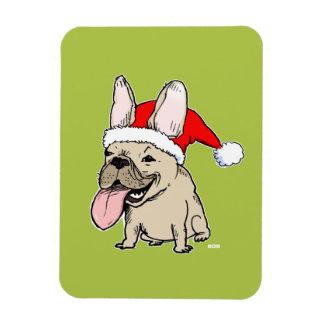 French Bulldog Santa Clause - Funny Dog Christmas Magnet