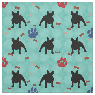 French Bulldog Shadow Fabric