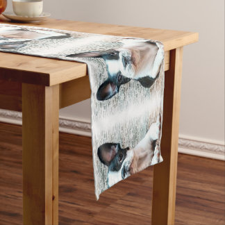 French Bulldog Short Table Runner