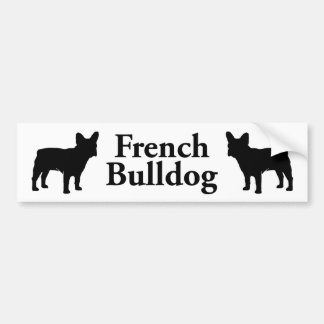 French Bulldog Silhouette Bumper Sticker