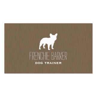French Bulldog Silhouette Business Card Templates