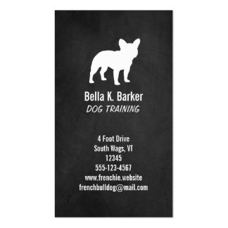 French Bulldog Silhouette - Chalkboard Style Business Card Templates
