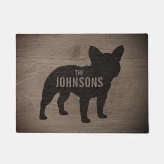 French Bulldog Silhouette Custom Doormat