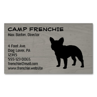 French Bulldog Silhouette Magnetic Business Cards