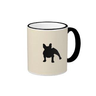 French Bulldog Silhouette Ringer Mug
