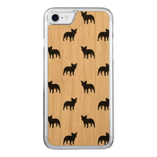 French Bulldog Silhouettes Pattern Carved iPhone 7 Case
