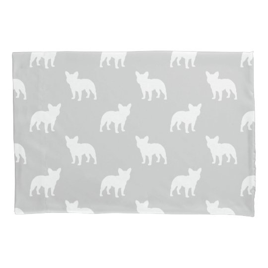 French Bulldog Silhouettes Pattern Pillowcase