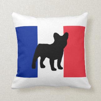 french bulldog silo France flag.png Cushion