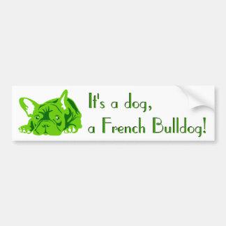 French Bulldog sitting Bumper Stickers