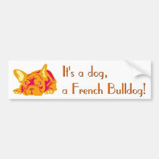 French Bulldog sitting Bumper Sticker