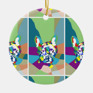 French Bulldog sitting Christmas Ornament