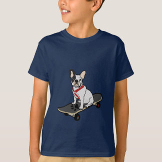 French Bulldog Skateboarding Child's Tee