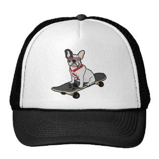 French Bulldog Skateboarding Hat