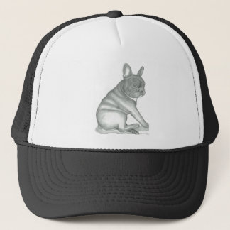 French Bulldog sketch trucker hat. Trucker Hat
