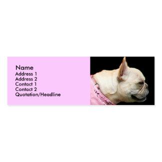 French Bulldog Skinny business card
