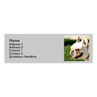 French Bulldog Skinny Business Cards