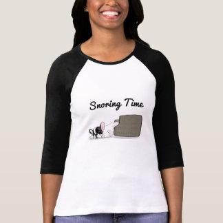 French Bulldog Snoring Time T-Shirt