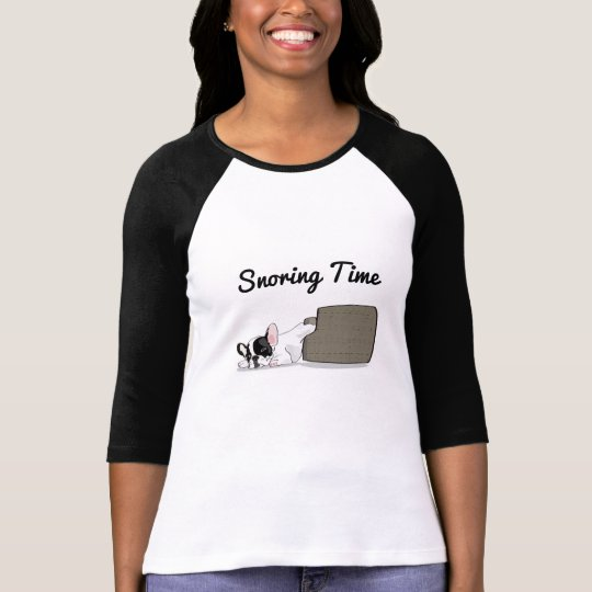 French Bulldog Snoring Time T-Shirt