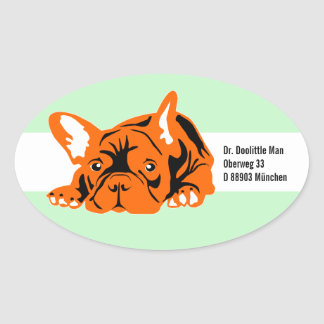 French Bulldog Sticker with text