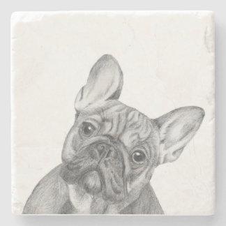 French Bulldog Stone Coaster
