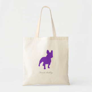 French Bulldog Tote Bag (purple version 1)