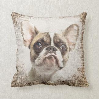 French Bulldog Vintage Portrait Cushion