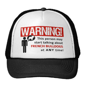 French Bulldog Warning Label - Support Rescue! Mesh Hat