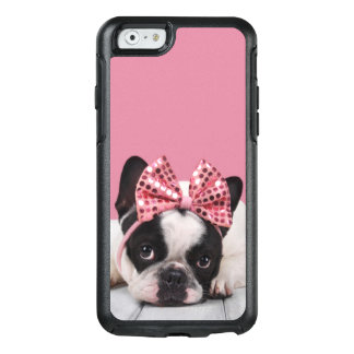 French Bulldog Wearing Pink OtterBox iPhone 6/6s Case