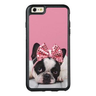 French Bulldog Wearing Pink OtterBox iPhone 6/6s Plus Case