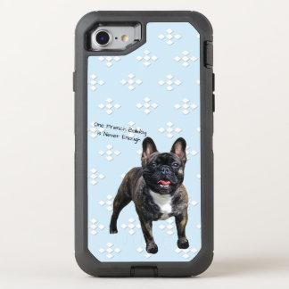 French Bulldog, White Diamonds on Blue OtterBox Defender iPhone 8/7 Case