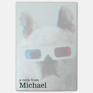 French Bulldog With 3D Glasses Post-it Notes