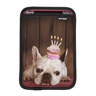 French Bulldog With Birthday Cupcake iPad Mini Sleeve