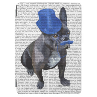 French Bulldog With Blue Top Hat and Moustache iPad Air Cover