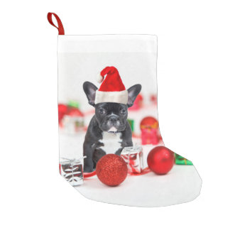 French Bulldog With Christmas Ornaments Small Christmas Stocking