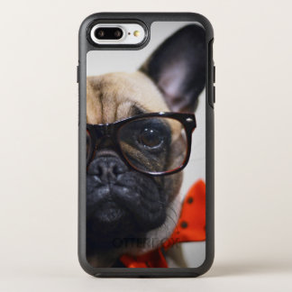 French Bulldog With Glasses And Bow Tie OtterBox Symmetry iPhone 8 Plus/7 Plus Case