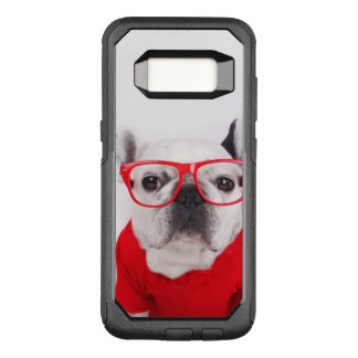 French Bulldog With Glasses And Red Shirt OtterBox Commuter Samsung Galaxy S8 Case