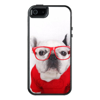 French Bulldog With Glasses And Red Shirt OtterBox iPhone 5/5s/SE Case