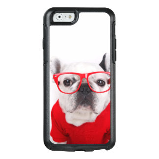 French Bulldog With Glasses And Red Shirt OtterBox iPhone 6/6s Case