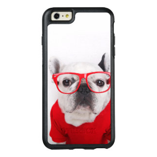 French Bulldog With Glasses And Red Shirt OtterBox iPhone 6/6s Plus Case