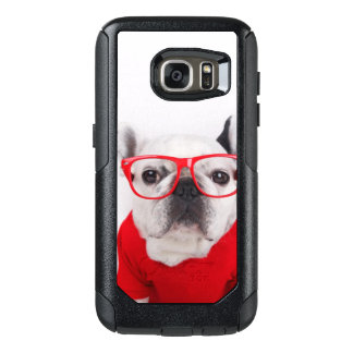 French Bulldog With Glasses And Red Shirt OtterBox Samsung Galaxy S7 Case
