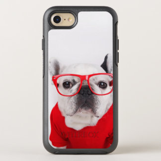 French Bulldog With Glasses And Red Shirt OtterBox Symmetry iPhone 8/7 Case