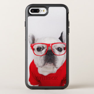 French Bulldog With Glasses And Red Shirt OtterBox Symmetry iPhone 8 Plus/7 Plus Case