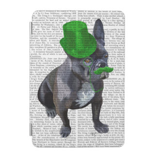 French Bulldog With Green Top Hat and Moustache iPad Mini Cover