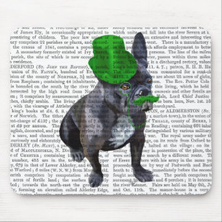 French Bulldog With Green Top Hat and Moustache Mouse Pad