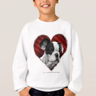 French Bulldog with Heart Sweatshirt