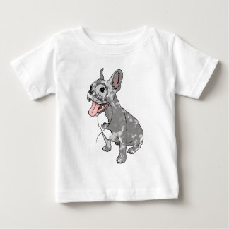 French bulldog with monocle baby T-Shirt