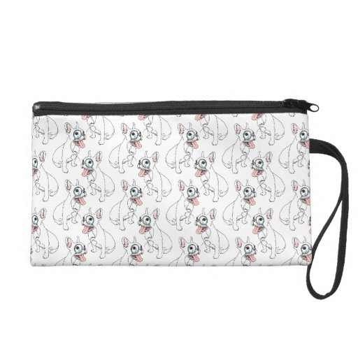 French bulldog with monocle pattern wristlets